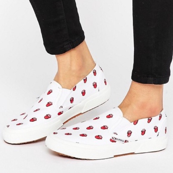 Rolling Stones Tongues Superga Sneakers